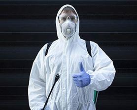 Desinfecção contra coronavírus